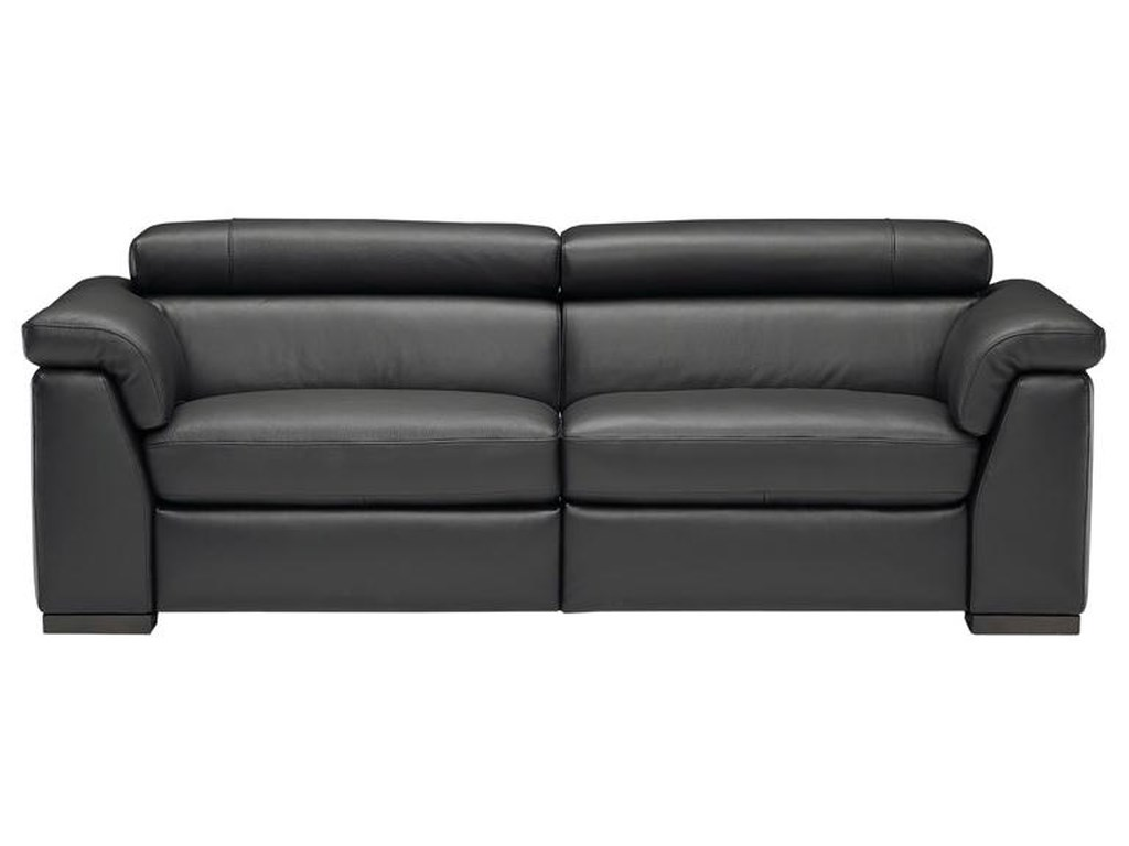 Natuzzi Editions B634 Contemporary Leather Sofa with Adjustable ...