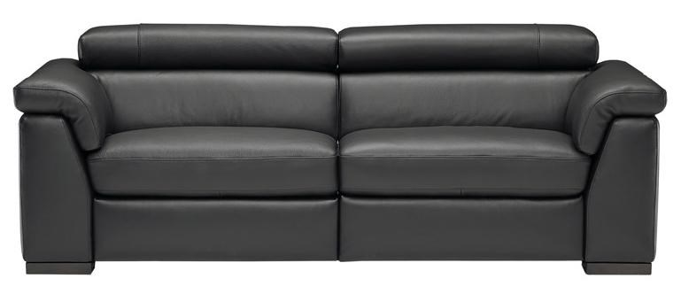 Natuzzi Editions B634 Contemporary Leather Sofa With Adjustable Headrests