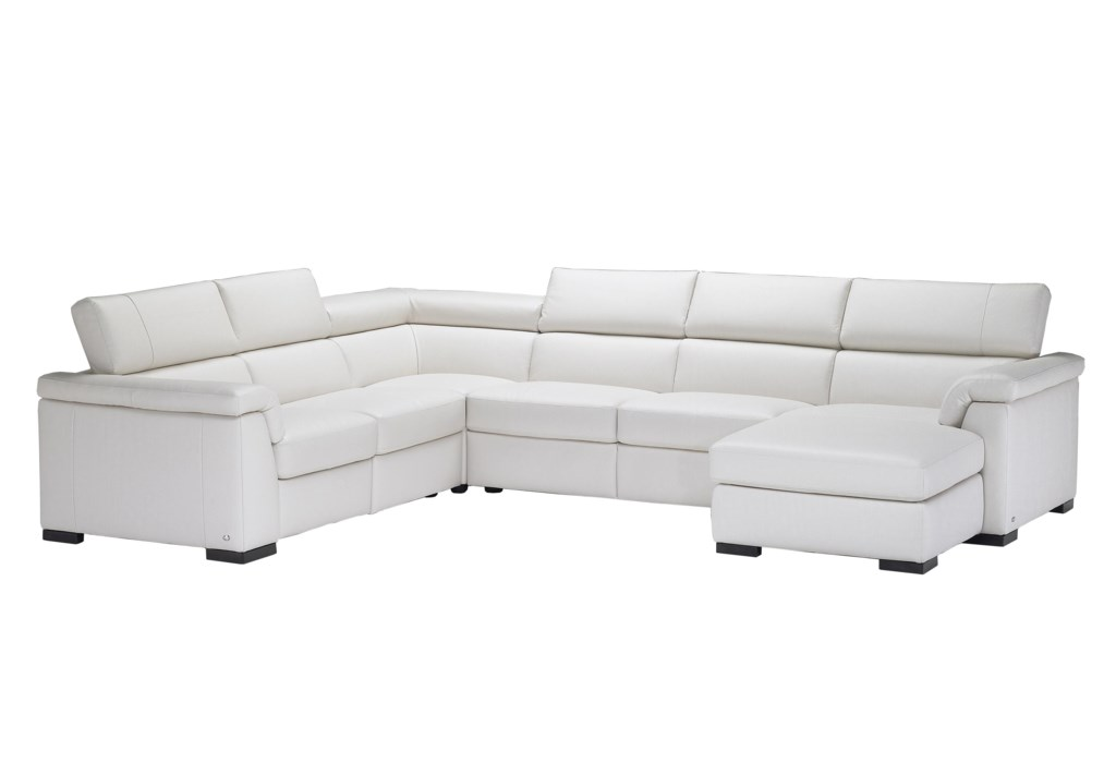 Natuzzi Editions B634 Contemporary Leather Reclining Sectional Sofa
