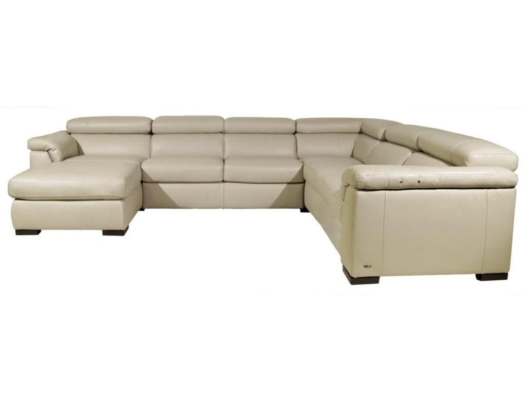 Tommaso Power Reclining Sectional by Natuzzi Editions at HomeWorld Furniture