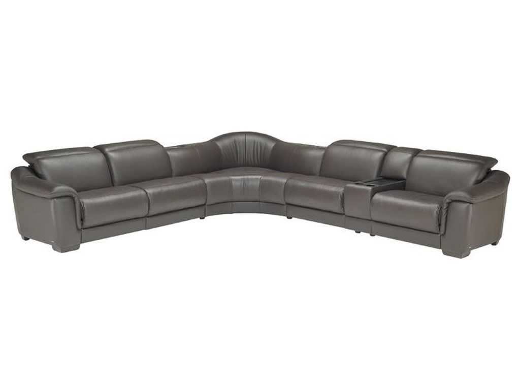 Natuzzi Editions B641 Contemporary Leather Reclining Sectional Sofa ...