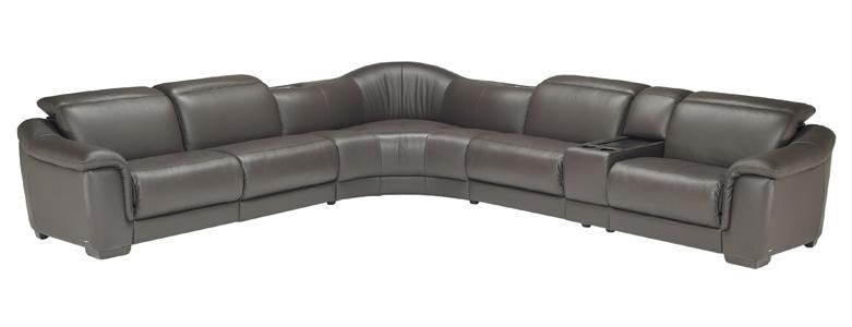 Marvelous Natuzzi Editions B641 Contemporary Leather Reclining Sectional Sofa With  Storage Console   Baeru0027s Furniture   Reclining Sectional Sofas