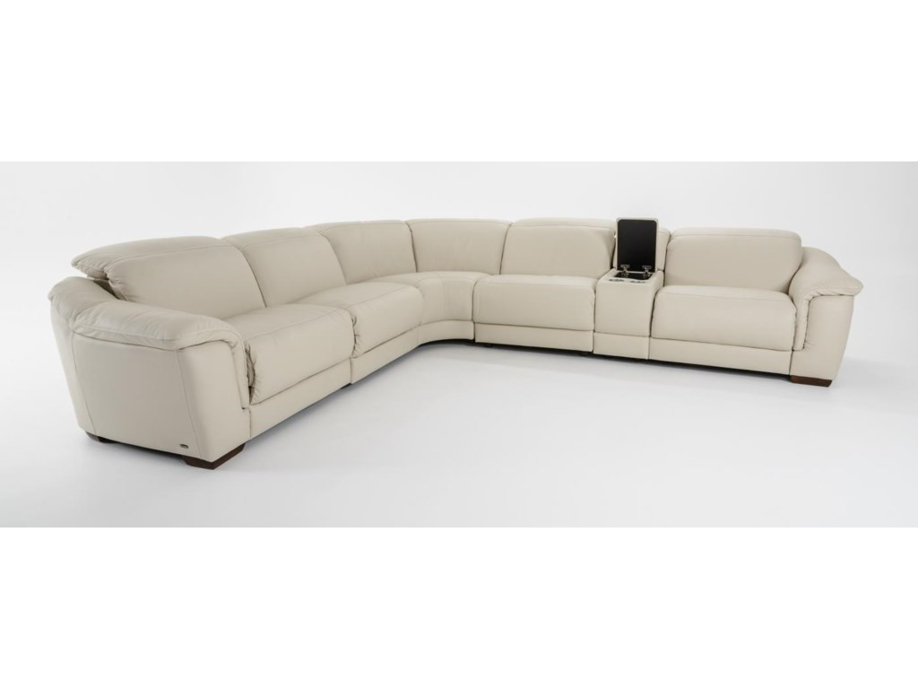 Natuzzi Editions B6416 Pc Power Reclining Sectional