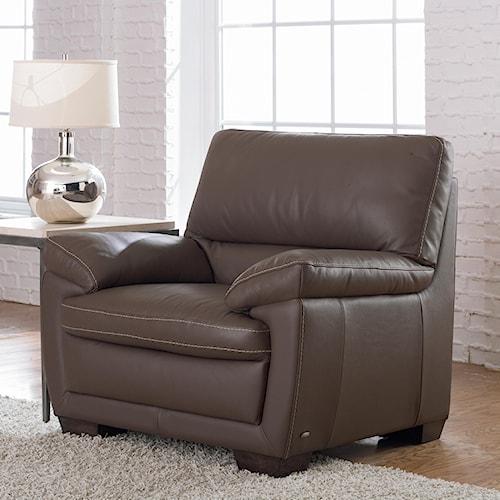 Natuzzi Editions B674 Plush Leather Chair