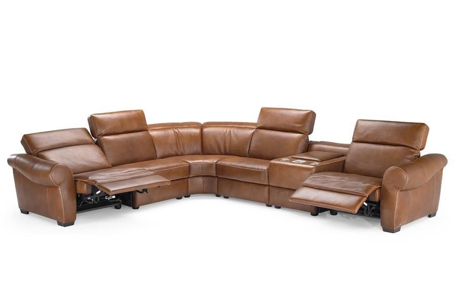Natuzzi Editions B751 Transitional Reclining Sectional with Storage Console and Cupholders - Baeru0027s Furniture - Reclining Sectional Sofa  sc 1 st  Baeru0027s Furniture : sectional with cup holders - Sectionals, Sofas & Couches
