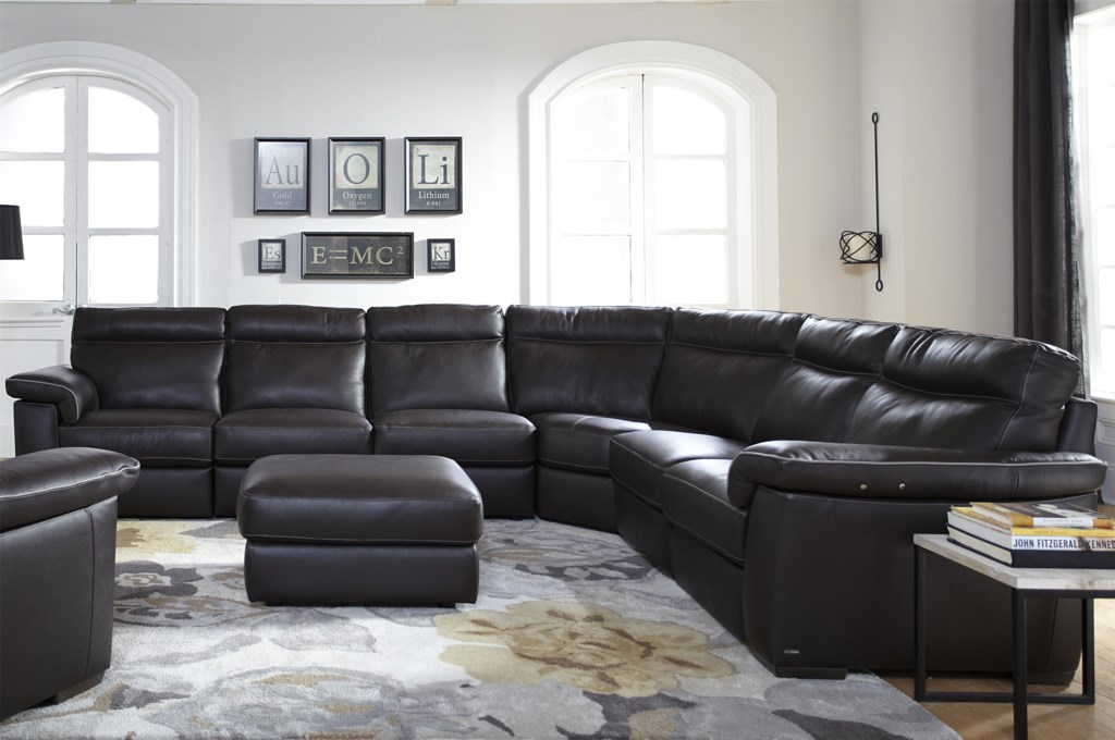 Natuzzi Editions B757 Four Piece Power Reclining Sectional Sofa