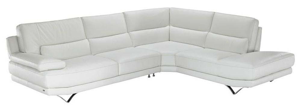 Natuzzi Editions B803 Contemporary L Shaped Sectional Sofa With Lumbar  Support, Futuristic Metal Legs, And Right Chaise Seat