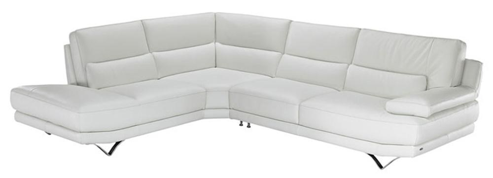 Merveilleux B803 Contemporary L Shaped Sectional Sofa With Lumbar Support, Futuristic  Metal Legs, And Left Chaise Seat By Natuzzi Editions