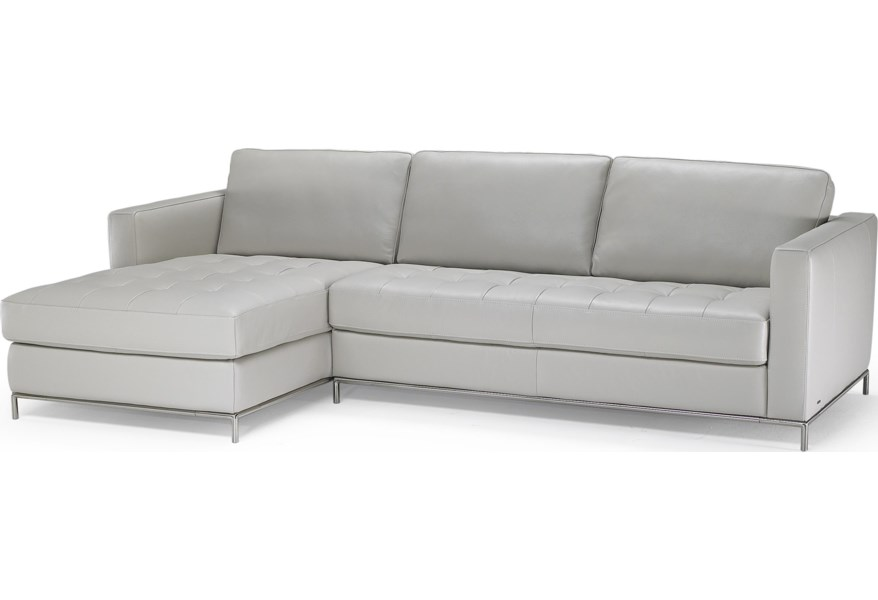 Natuzzi Editions B805 Left Arm Facing Sofa Chaise with ...