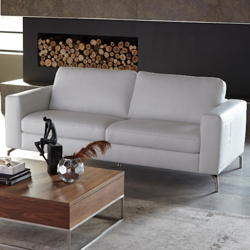 Natuzzi Editions B845 Contemporary Sofa With Track Arms