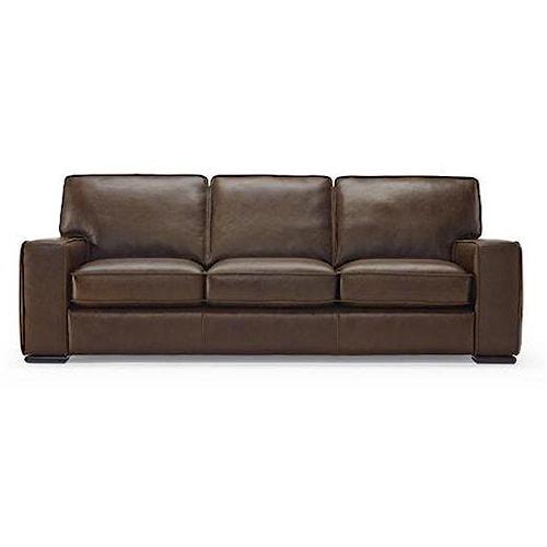 Natuzzi Editions B858 Contemporary Track Arm Sofa