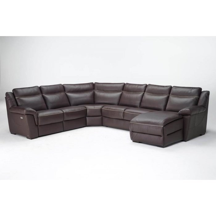 Gaetano Casual 6 Seat Power Reclining Sectional With RAF Chaise By Natuzzi  Editions