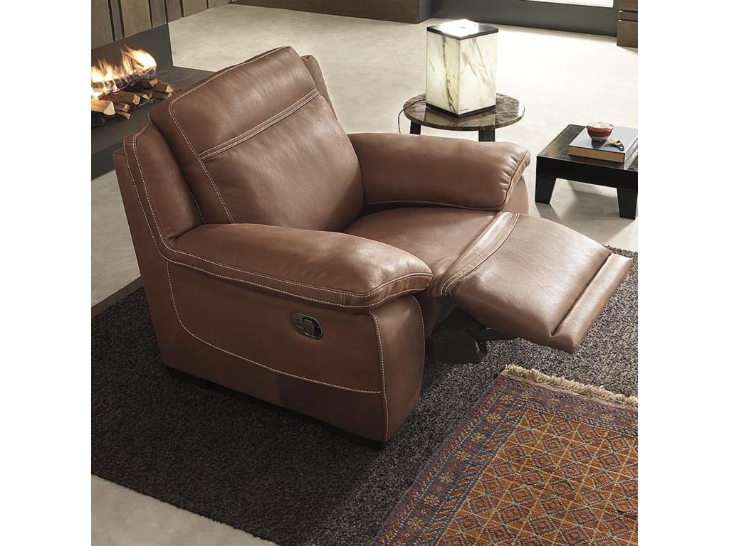 sofa place natuzzi for editions seater leather the recliner