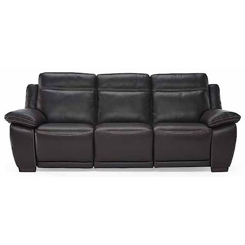 Natuzzi Editions B875 Casual Reclining Sofa With Block Feet