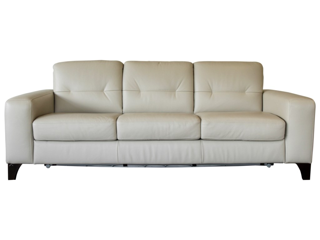 Valerio Contemporary 3 Cushion Sleeper Sofa with Memory Foam Mattress by  Natuzzi Editions at HomeWorld Furniture