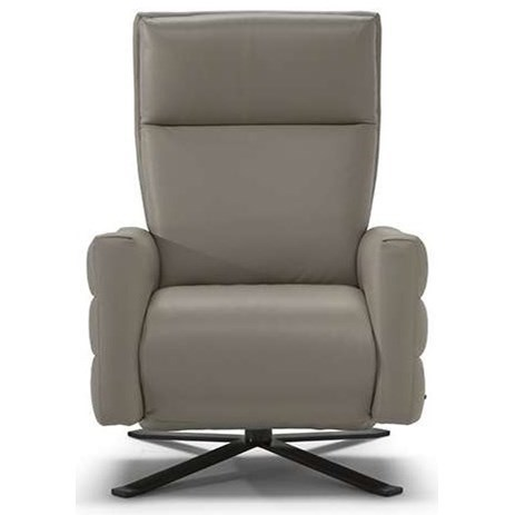 Natuzzi Editions B958 Contemporary Battery Pack Power Recliner With Metal  Pedestal Base