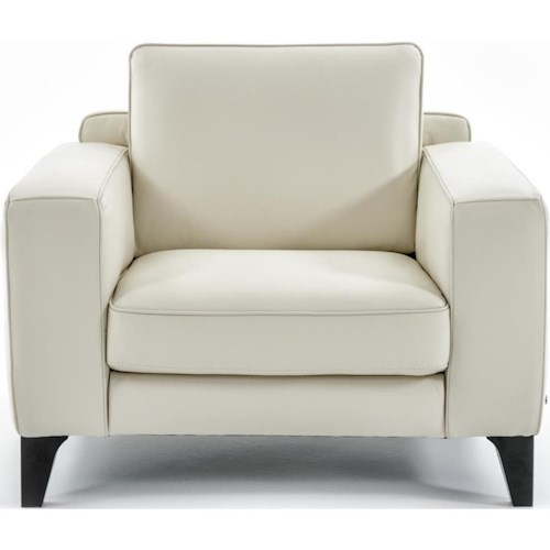 Natuzzi Editions B968 Contemporary Chair with Box Cushion