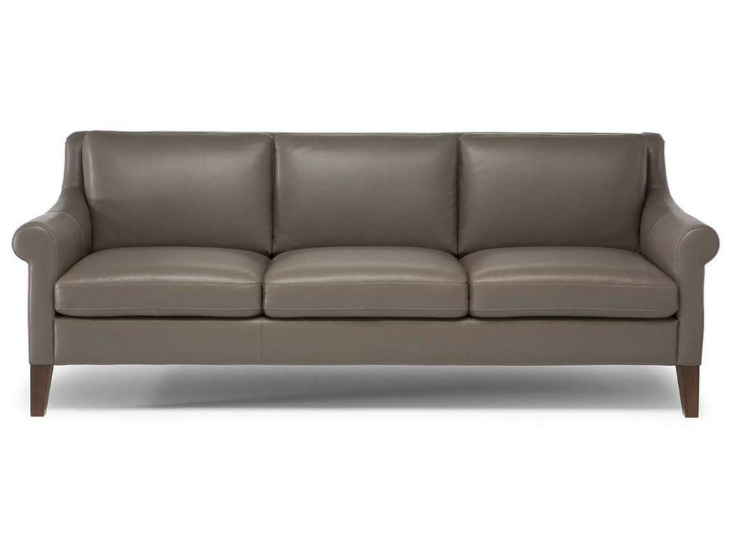 Dolcezza Contemporary Sofa with Tapered Legs by Natuzzi Editions at  Sadler\'s Home Furnishings