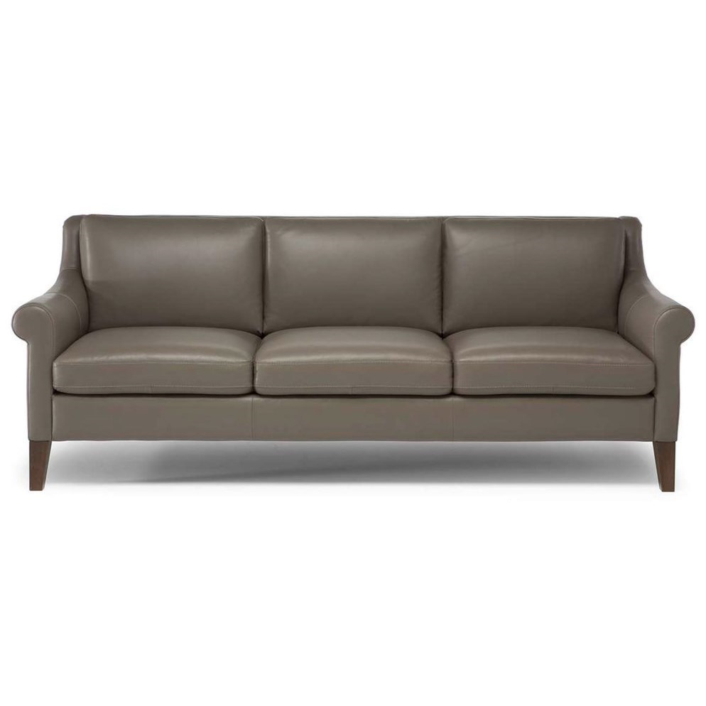Captivating Natuzzi Editions Dolcezza Contemporary Sofa With Tapered Legs
