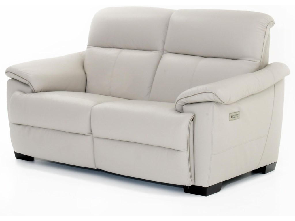 Natuzzi Editions PotenzaWall Hugger Power Reclining Sectional