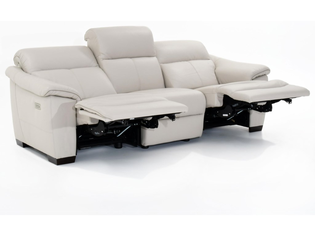 Natuzzi Editions PotenzaWall Hugger Power Reclining Sofa