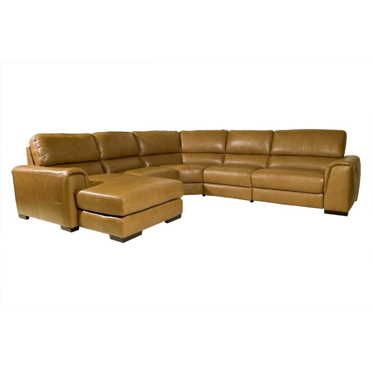Natuzzi Editions Davide Contemporary Power Reclining Sectional Sofa With  Padded Track Arms