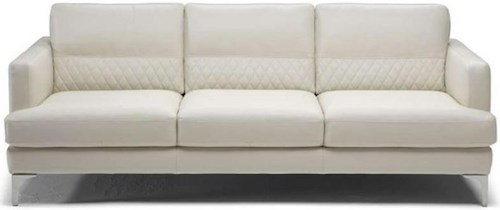 Natuzzi Editions Donatello Contemporary Sofa with Textured Lower Back