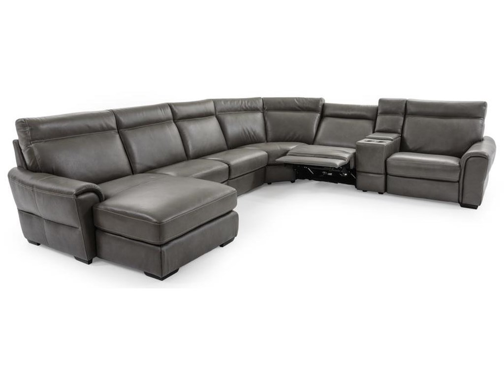 Natuzzi Editions Energia7 Pc Power Reclining Sectional