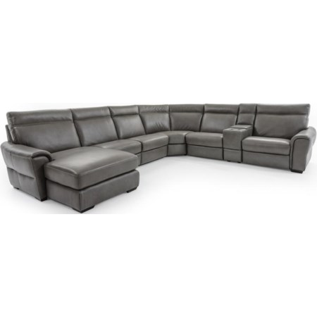 7 Pc Power Reclining Sectional