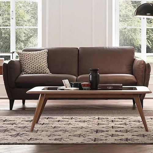 Natuzzi Editions Mario Contemporary Sofa With Tapered Arms Pilgrim Furniture City Sofas