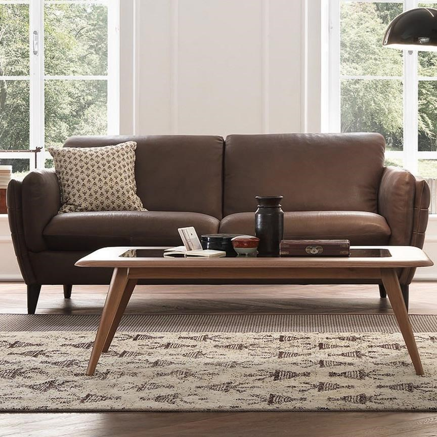 Natuzzi Editions Mario Contemporary Sofa With Tapered Arms