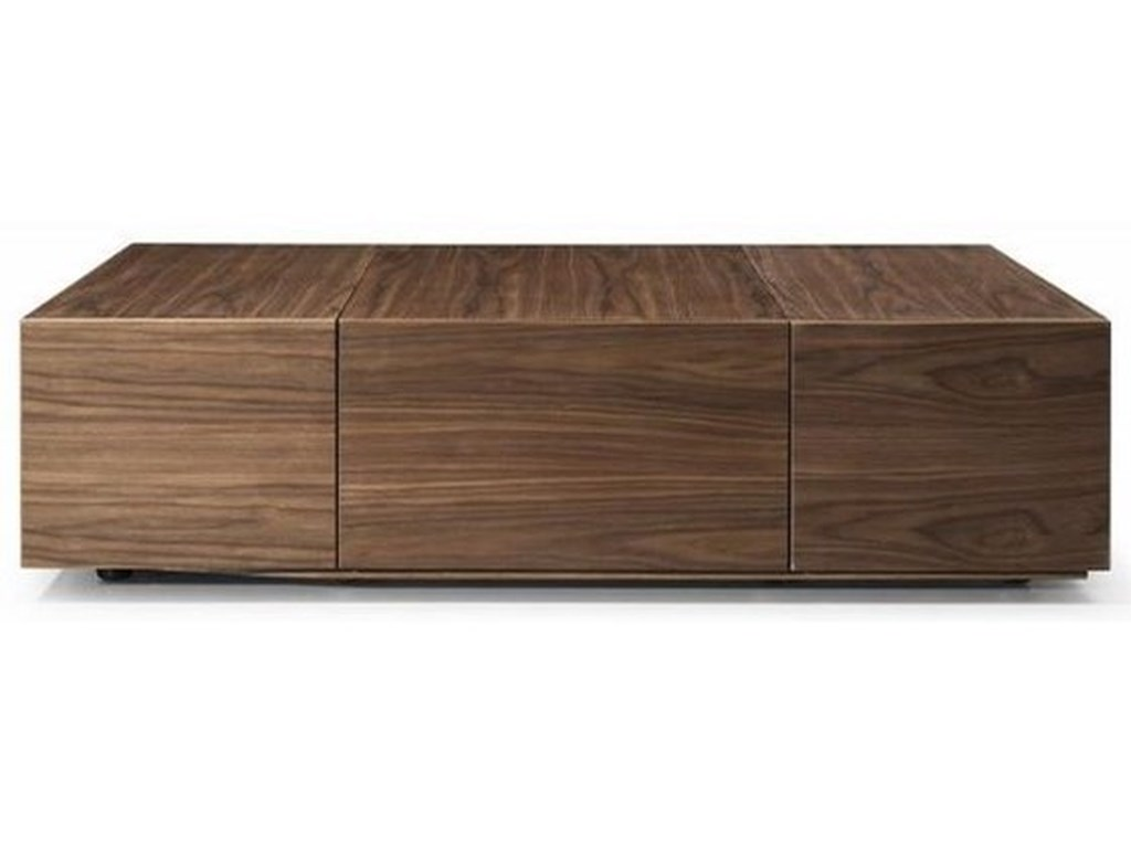 Natuzzi Editions Ostuni Modern Storage Coffee Table W Casters