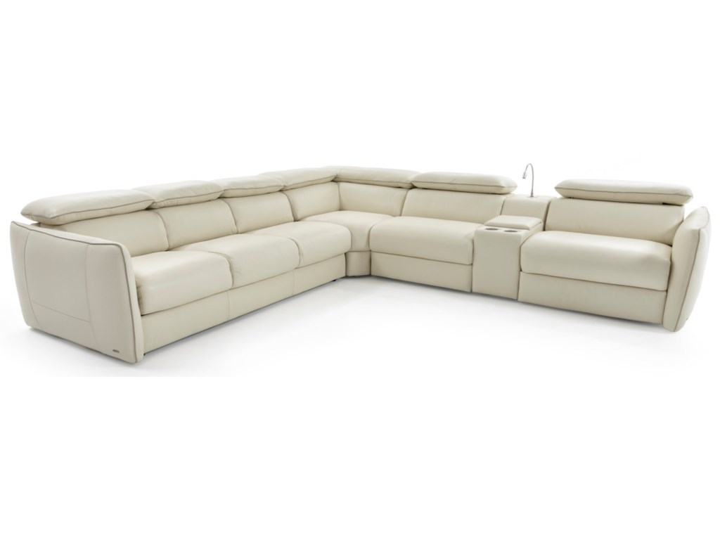 Natuzzi Editions Tullio Reclining Sectional Sofa