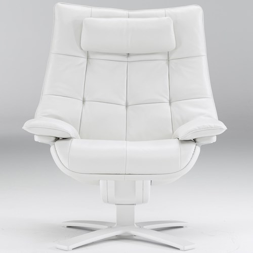 Natuzzi Re-vive 600 Model Contemporary Swivel Recliner Chair
