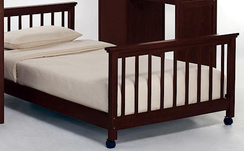 NE Kids School House Twin Lower Stair Loft Bed