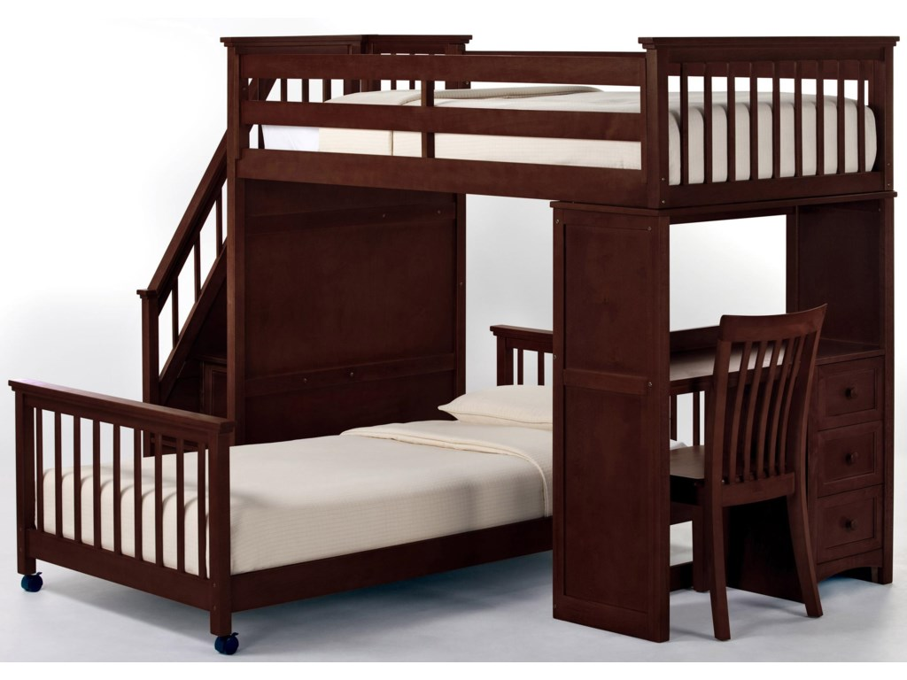 Shown with Stair Loft Bed and Chair