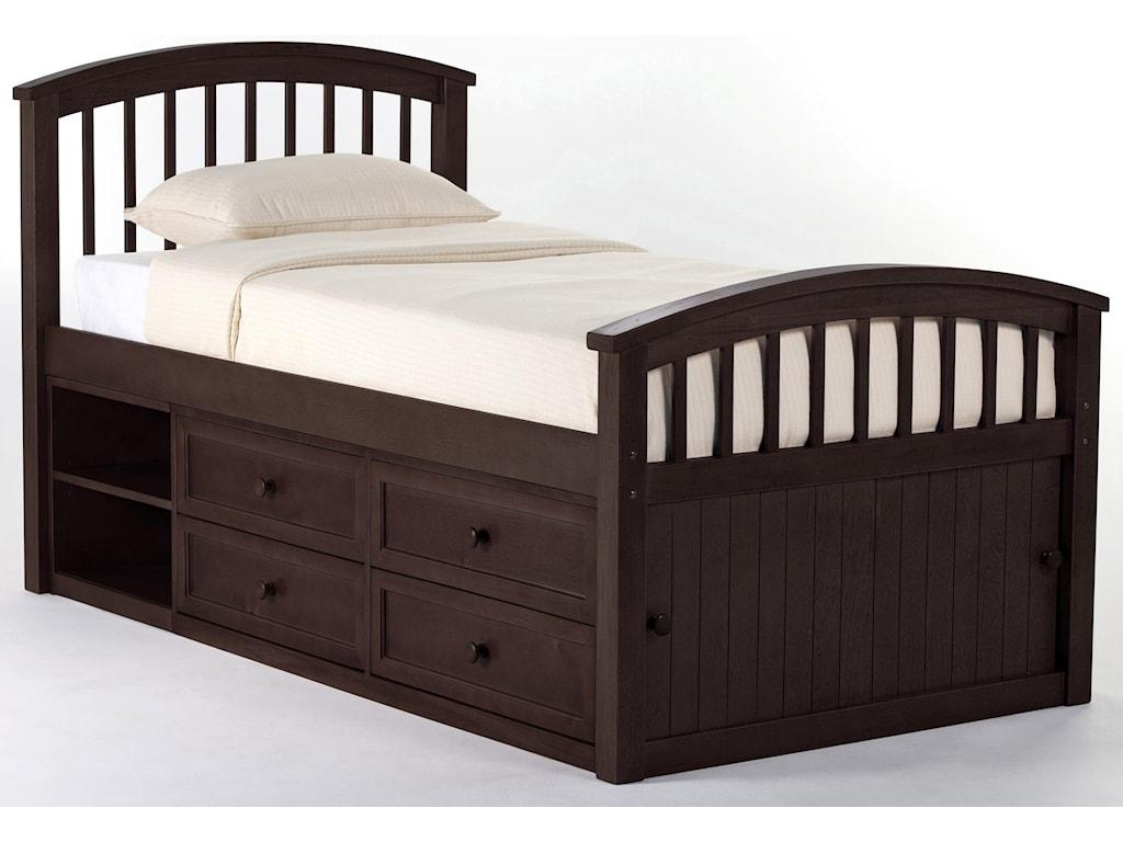 NE Kids School HouseTwin Captain Bed