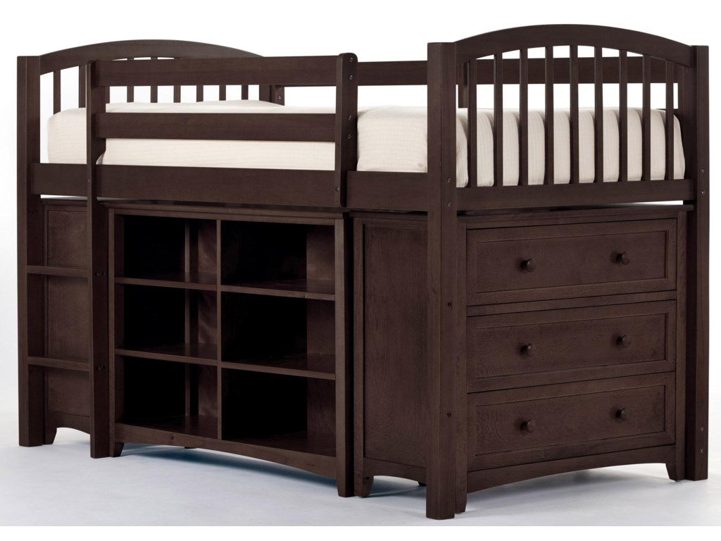 Shown with Junior Loft Bed, Vertical Shelf and Short Horizontal Shelf