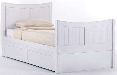 NE Kids School House Twin Taylor Headboard and Footboard Bed w/ Storage