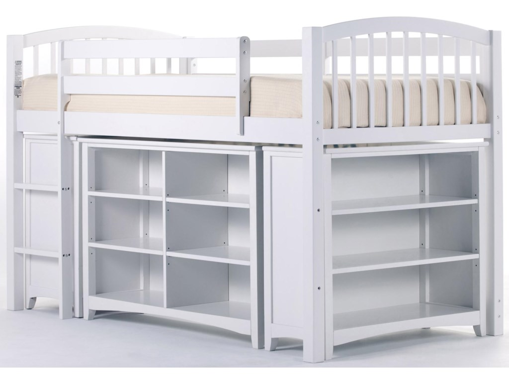 Shown with Junior Loft Bed and Short Vertical Bookcase