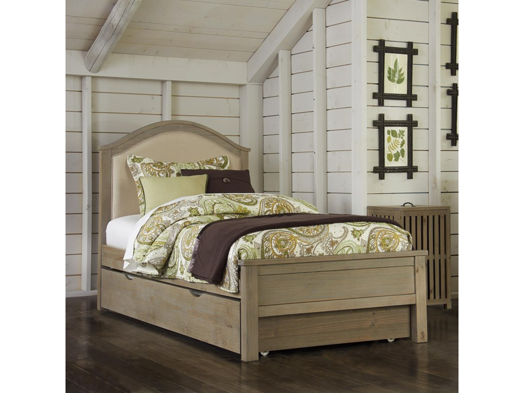 NE Kids HighlandsTwin Bailey Upholstered Bed with Trundle