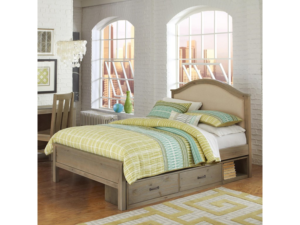 NE Kids HighlandsFull Bailey Upholstered Bed with Storage