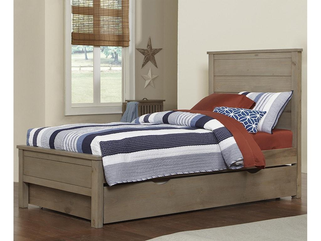 NE Kids HighlandsTwin Alex Flat Panel Bed with Trundle