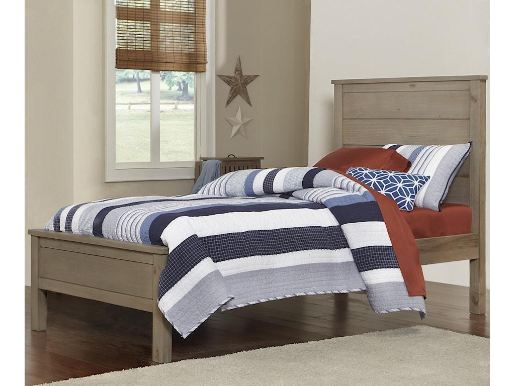 NE Kids HighlandsTwin Alex Flat Panel Bed