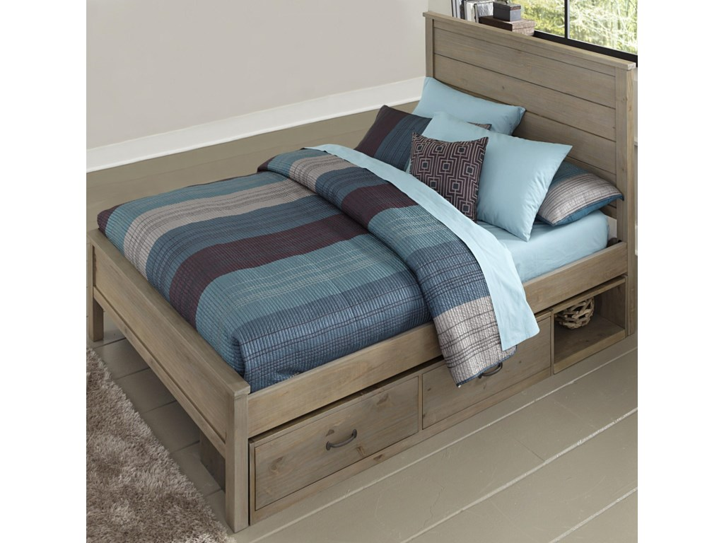Highlands Full Alex Flat Panel Bed With Storage
