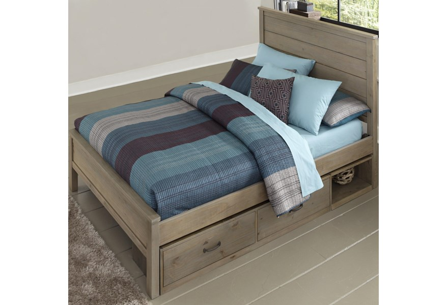 Ne Kids Highlands Full Alex Bed With Flat Panel Headboard And