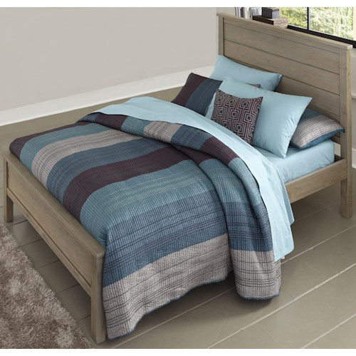 NE Kids Highlands Full Alex Bed with Flat Panel Headboard and Footboard