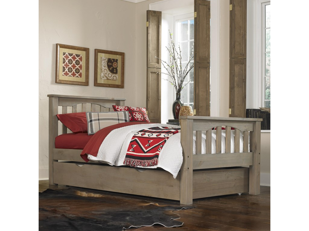 NE Kids HighlandsTwin Harper Bed with Trundle