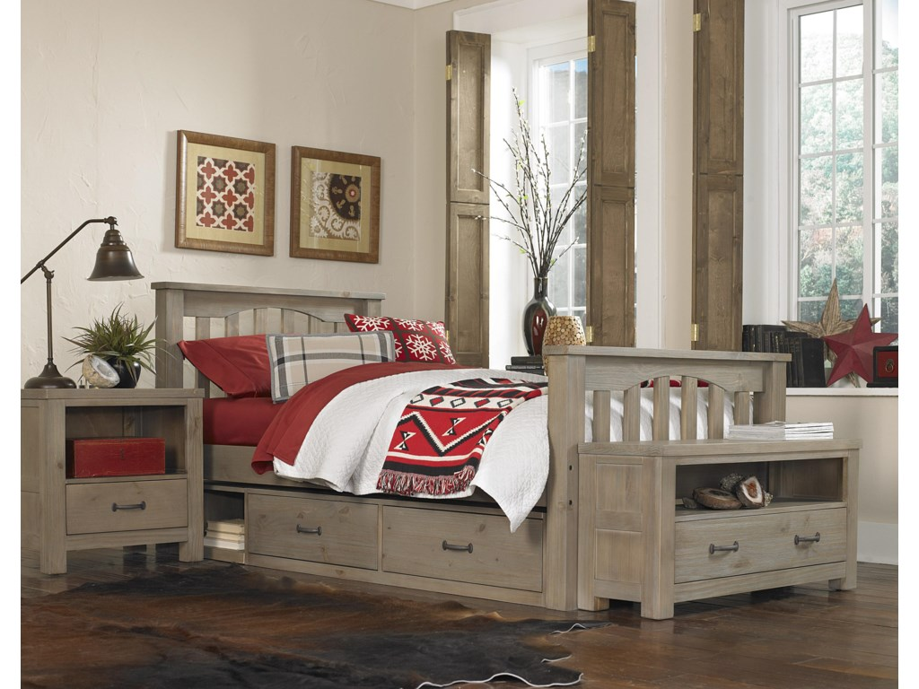NE Kids HighlandsTwin Harper Bed with Storage