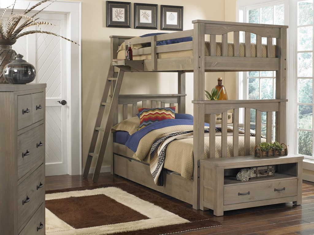NE Kids HighlandsHarper Twin Over Twin Bunk Bed With Trundle